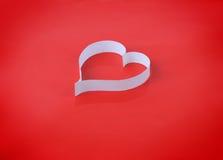 Valentine's paper heart Stock Photo