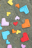 Valentine s paper heart Stock Photo