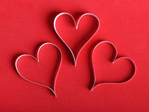 Valentine's paper hearts Stock Photos
