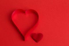 valentine's paper hearts Royalty Free Stock Photos