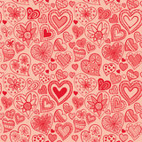 Valentine's pattern with heart Royalty Free Stock Images