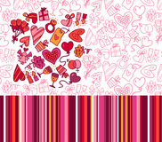 Valentine's patterns Royalty Free Stock Photos