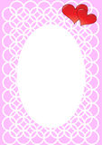 Valentine's photo frame Royalty Free Stock Image