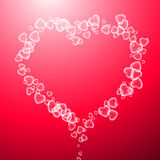 Valentine`s pink background with heart. Stock Photo