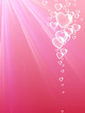Valentine`s pink background with hearts. Royalty Free Stock Photos