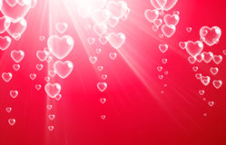 Valentine`s pink background with hearts. Royalty Free Stock Photography