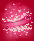 Valentine's pink heart background Royalty Free Stock Photo