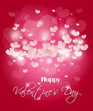 Valentine's pink heart background Royalty Free Stock Photos