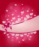 Valentine's pink heart background Stock Photo