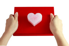 Valentine`s pink heart Royalty Free Stock Photography