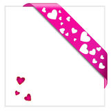Valentine's pink ribbon Royalty Free Stock Photo