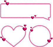 Valentine`s pink templates with hearts. Stock Photos