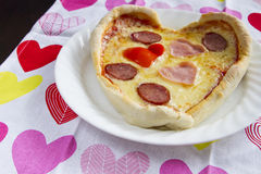 Valentine's pizza Royalty Free Stock Image
