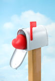 Valentine's Postal Delivery Royalty Free Stock Photography