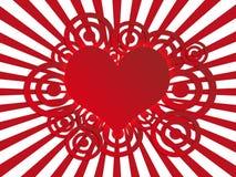 Valentine's postcard. Valentine's white and red background - postcard Stock Photo