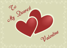 Valentine's postcard. Illustration of Valentine's postcard with hearts Royalty Free Stock Photos