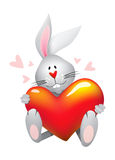 Valentine's Rabbit Stock Photos