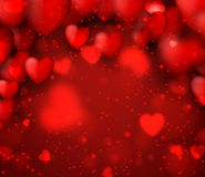 Valentine's red background. Royalty Free Stock Photography