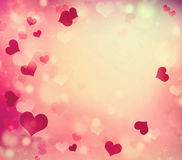 Valentine's red bright background with empty copy space. Royalty Free Stock Photos
