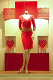 Valentine's red dress Royalty Free Stock Image