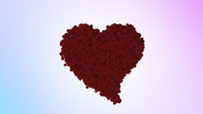 Valentine's Red Fluffy Heart stock video