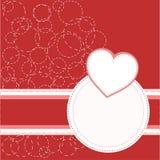 Valentine's red greeting invitation card love Stock Photos