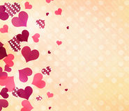 Valentine's romantic background.Polka dots hearts wallpaper. Stock Images