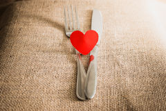 Valentine's Romantic Dinner concept Royalty Free Stock Image