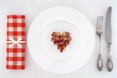Valentines Romantic Dinner.  Royalty Free Stock Photo
