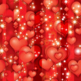 Valentine's rubin hearts. (bright red seamless pattern Royalty Free Stock Photos