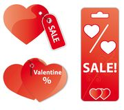 Valentine's sale Stock Photo