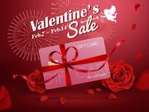 Valentine`s sale ads Stock Image