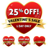 Valentine's Sale Icon Royalty Free Stock Photo