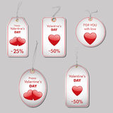 Valentine's sales tags Stock Image
