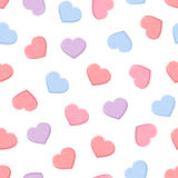 Valentine's seamless pattern with colorful sweetheart candies. Vector illustration. stock illustration