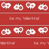 Valentine`s seamless pattern. Seamless pattern with lovely hearts Royalty Free Stock Image
