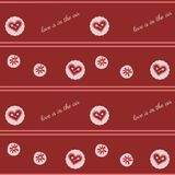 Valentine`s  seamless pattern. Seamless pattern with lovely hearts Stock Photography