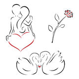 Valentine's set Royalty Free Stock Photo