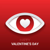 Valentine`s sign. Eye with heart in the pupil. Vector Royalty Free Stock Photography