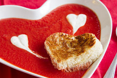 Valentine's soup Stock Photos