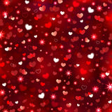 Valentine's Sparkling Background. Vector illustration of an abstract background with lots of hearts and sparkling stars for Valentine's Day Royalty Free Stock Photos