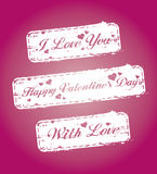 Valentine`s stamps Royalty Free Stock Images