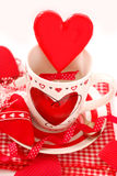 Valentine`s table setting Stock Photos