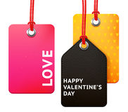Valentine's tag set Stock Image