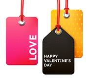 Valentine's tag set Stock Image