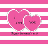 Valentine& x27; s-Tagesgrußkarte Lizenzfreies Stockbild