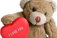 Valentine's Teddy Bear. Royalty Free Stock Images