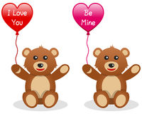 Valentine s Teddy Bear with Balloon Stock Photography
