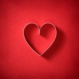 Valentine's theme with heart shape Royalty Free Stock Photos