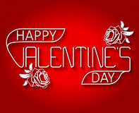 Valentine`s thin text Stock Images